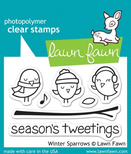 LF0565 S ~  WINTER SPARROWS ~  CLEAR STAMPS BY LAWN FAWN